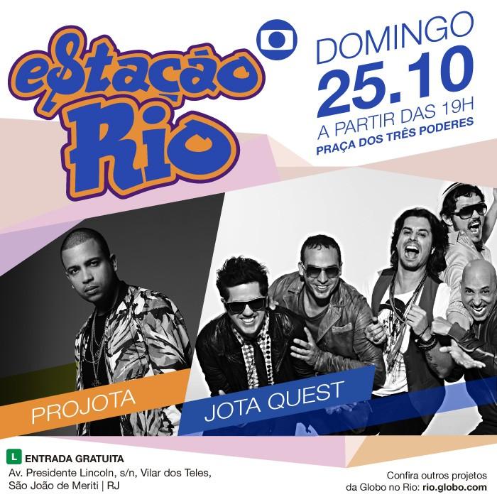 Jota Quest e Projota fazem show no Estação Rio no próximo domingo, 25 de outubro (Foto: Divulgação)