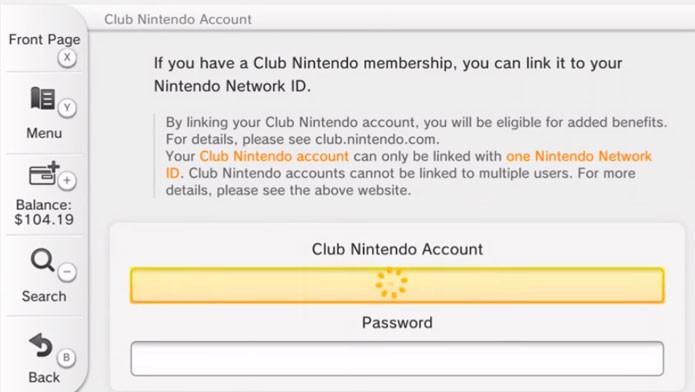 Coloque seu login e senha para ligar ambas as contas (Foto: Nintendo)