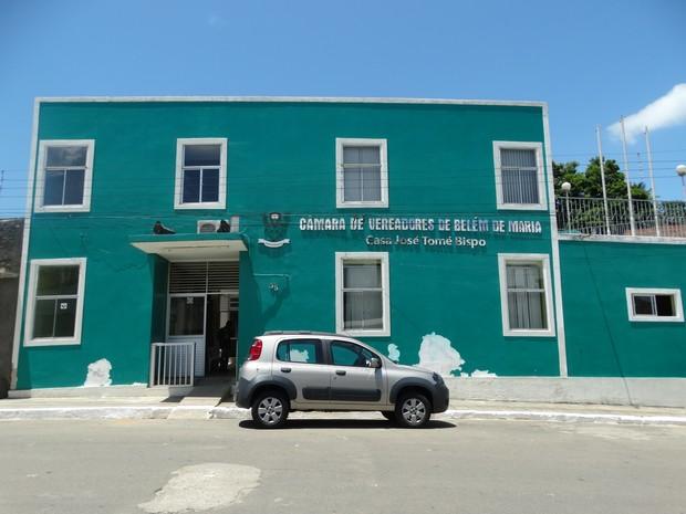 Câmara de Vereadores de Belém de Maria (Foto: Paula Cavalcante/ G1)