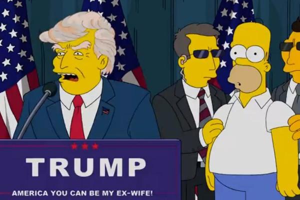 Os Simpsons também previram a presidência de Donald Trump (Foto: Reprodução)
