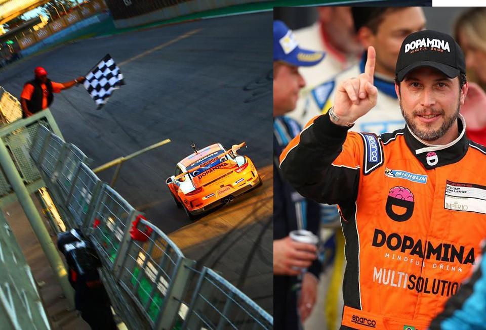 O competidor do carro #13 se aproveitou do grid invertido, liderou a prova de ponta a ponta e conquistou sua primeira vitória no ano. (Foto: Divulgação/Luca Bassani)
