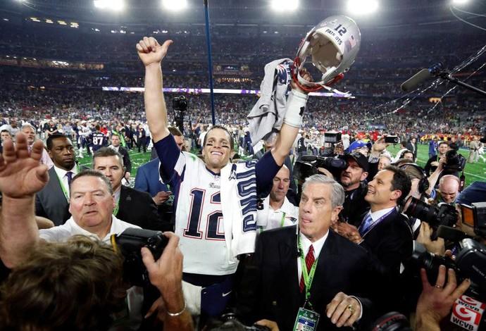 Tom Brady comemora, Superbowl, NFL (Foto: Reuters)