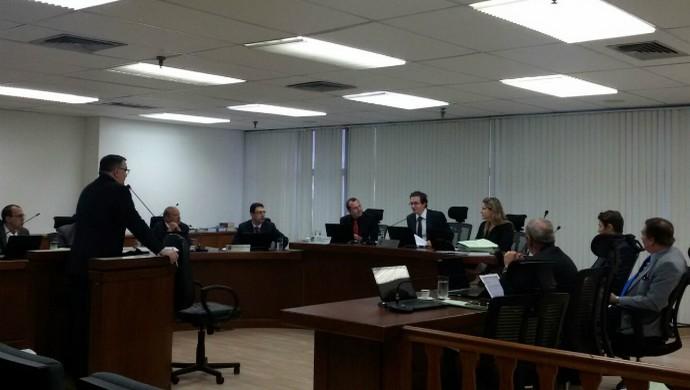 Julgamento foi realizado no Pleno do STJD (Foto: Daniela Lameira/STJD)