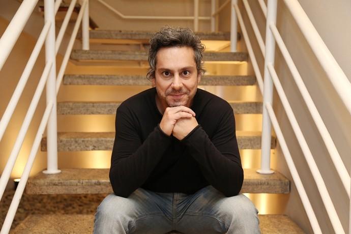Alexandre Nero nos bastidores do 'Altas Horas' (Foto: Carol Caminha/Gshow)