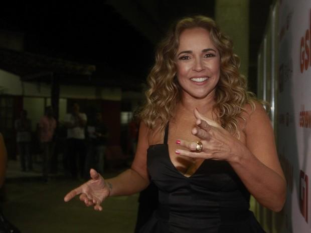 Daniela Mercury nos bastidores do Festival de Verão de Salvador, na Bahia (Foto: Isac Luz/ EGO)