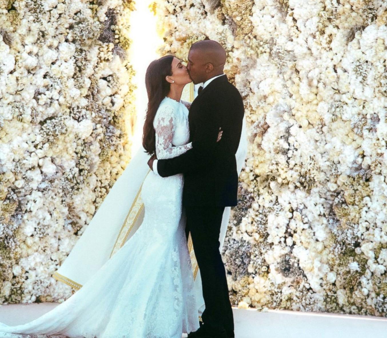 Casamento de Kim Kardashian e Kanye West (Foto: Instagram/Reprodução)