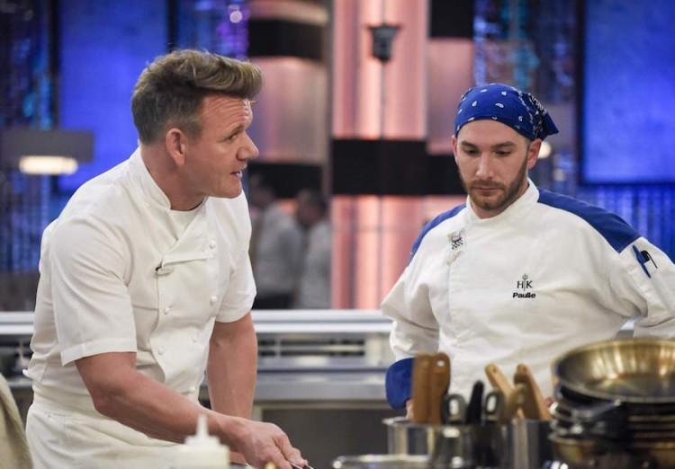 Gordon Ramsay e Paulie Giganti em 'Hell's Kitchen' (Foto: Divulgação)