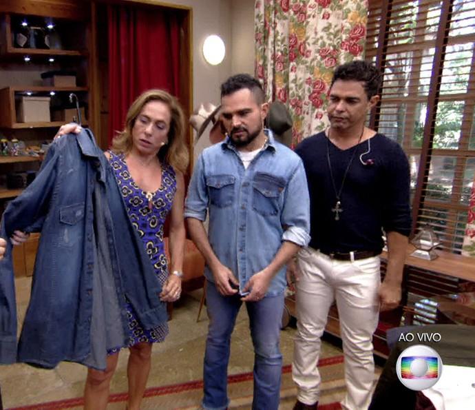 Zezé di Camargo e Luciano avaliam looks sertanejos (Foto: TV Globo)
