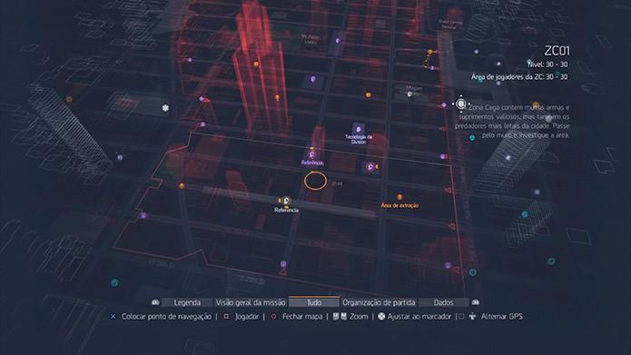 Conhecer o mapa é fundamental na Dark Zone (Foto: Reprodução/Thiago Barros)