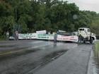 Protesto no RS bloqueia acesso ao estado de Santa Catarina pela BR-386
