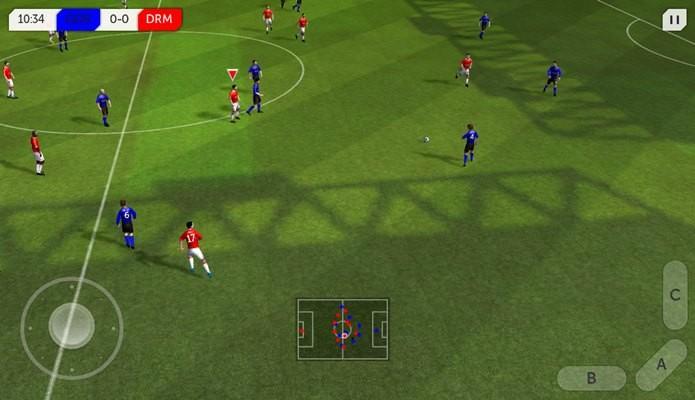 Pouco conhecido, Dream League Soccer surpreende por ser leve, mas ter boa qualidade gráfia (Foto: Divulgação)