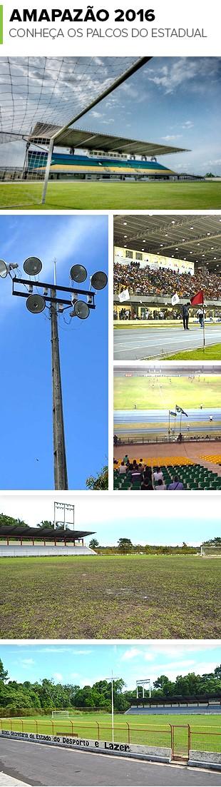 Mosaico_Estadios_Amapazao (Foto: Editoria de Arte)