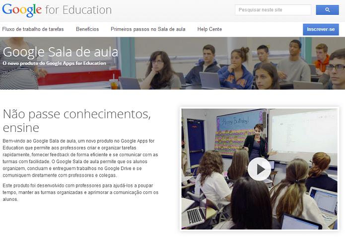 Sala de Aula foi lançado para ajudar professores e alunos (Foto: Thiago Barros/Reprodução)