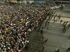 Manifestantes entram em confronto com a polícia em Belo Horizonte