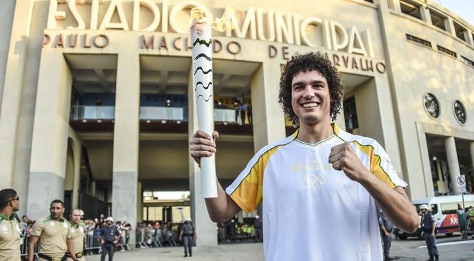 anderson varejão, basquete, tocha olímpica, basquete anderson varejão (Foto: Divulgação/Coca-Cola)