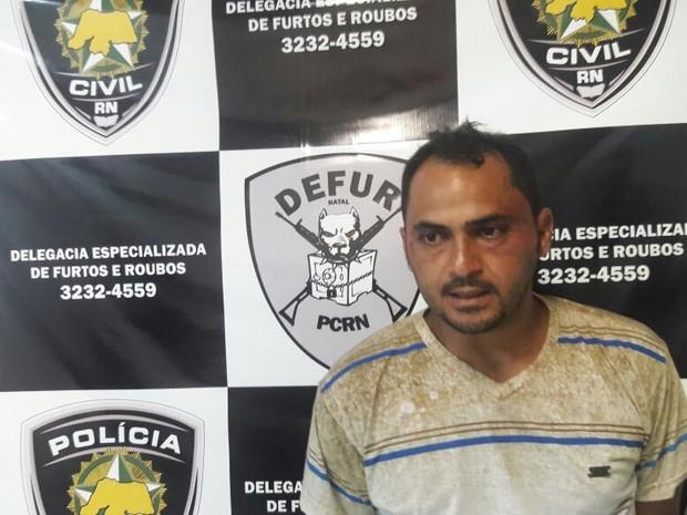 Francisco Danilo foi preso neste domingo (12) suspeito de morte de PM em Natal (Foto: Divulgação/PC)