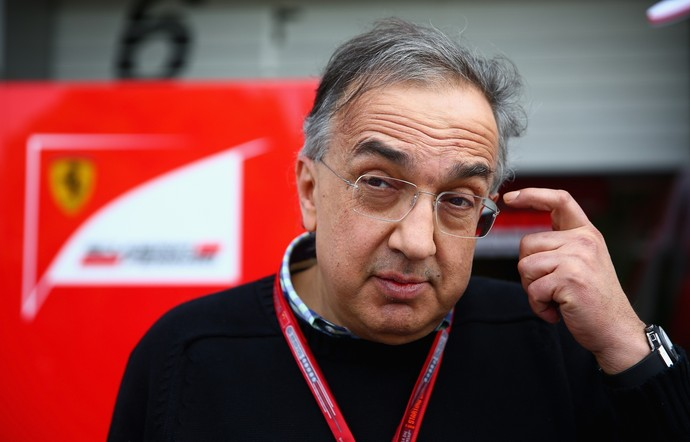 Sergio Marchionne, presidente da Fiat, no GP da China (Foto: Getty Images)