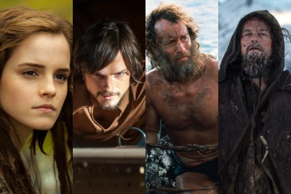 Emma Watson, Ashton Kutcher, Tom Hanks e Leonardo DiCaprio (Foto: Divulgação)