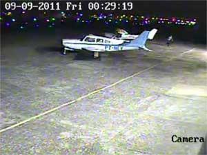 Hangar do Aeroporto Campo dos Amarais, em Campinas (SP) (Foto: Reprodução EPTV)