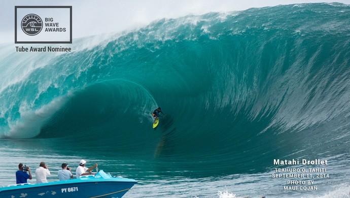 Finalistas do premio Big Wave Tour Awards surfe (Foto: Divulgação/WSL)
