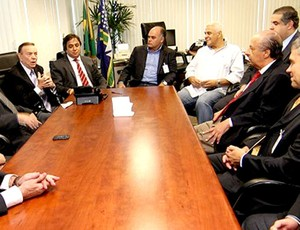 José Maria Marin em reunião com dirigentes de clubes CBF (Foto: Ricardo Stuckert / CBF)