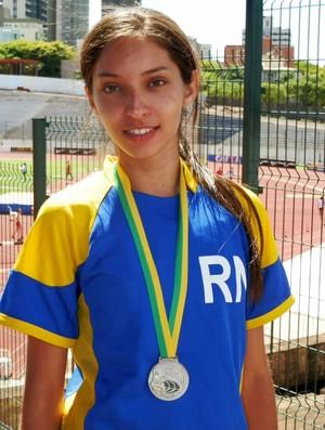 Amanda Carvalho conquista vice-campeonato do Campeonato Brasileiro de Menores de Atletismo (Foto: Marcos Winicius/CBAt)
