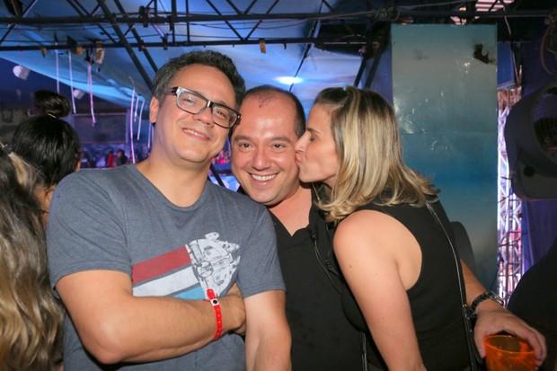Danton Mello, Michel Diamant e Sheila Ramos (Foto: Reginaldo Teixeira/ CS Eventos Divulgação)