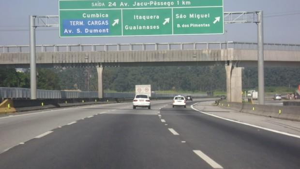 Trecho Sul do Rodoanel e do prolongamento da Avenida Jacu-Pêssego, na Grande São Paulo (Foto: Reprodução/Facebook)