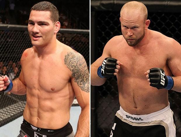 Chris Weidman e Tim Boetsch, do UFC. (Foto: Editoria de Arte / Globoesporte.com)