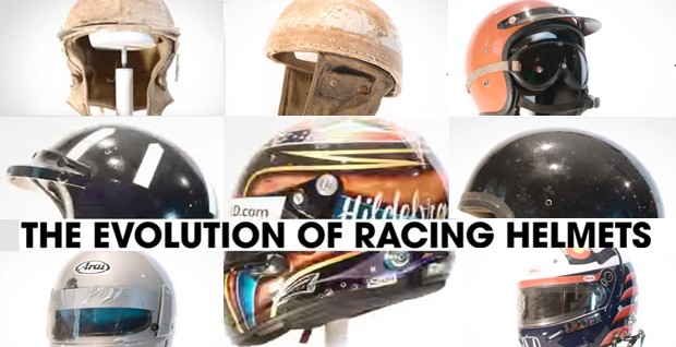 A evolução dos capacetes, do pano ao kevlar. (Foto: Reprodução/Donut Media )