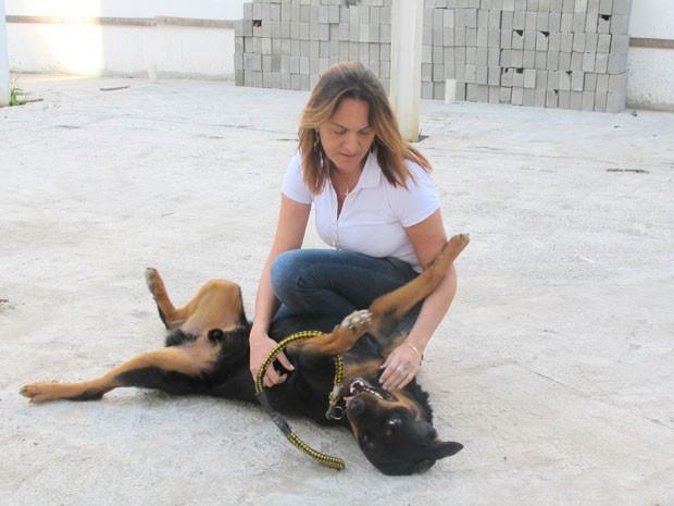 Cachorro do Marcelo Fukuhara (Foto: Anna Gabriela Ribeiro/G1)