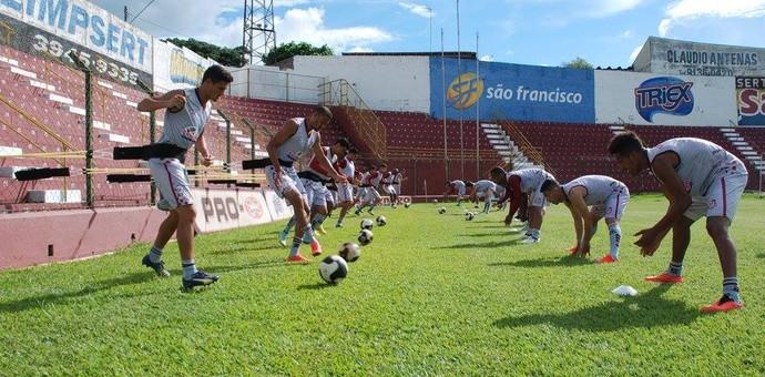 Sertãozinho treino (Foto: Vinicius Alves / Sertãozinho FC)