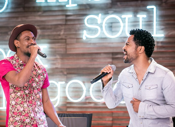 Nando e Rafael soltam a voz na música Onde Você Mora (Foto: Isabella Pinheiro/Gshow)