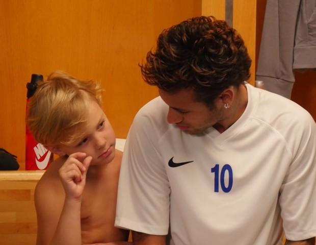Neymar e o filho Davi Lucca (Foto: Reprodução Instagram)