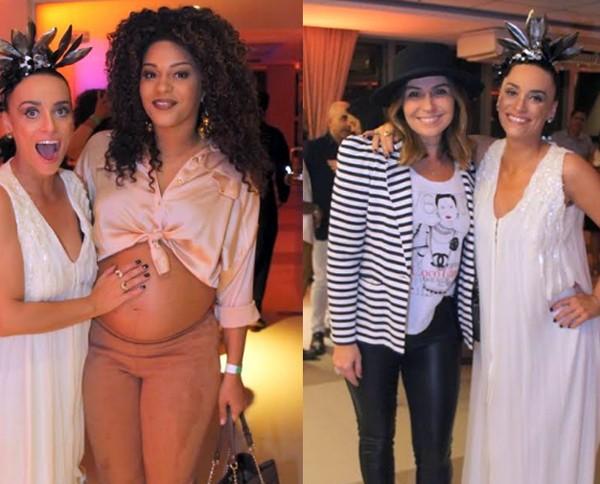 Suzana em dose dupla: com Juliana Alves, grávida de cinco meses. E com Giovanna Antonelli  (Foto: Dan Delmiro)