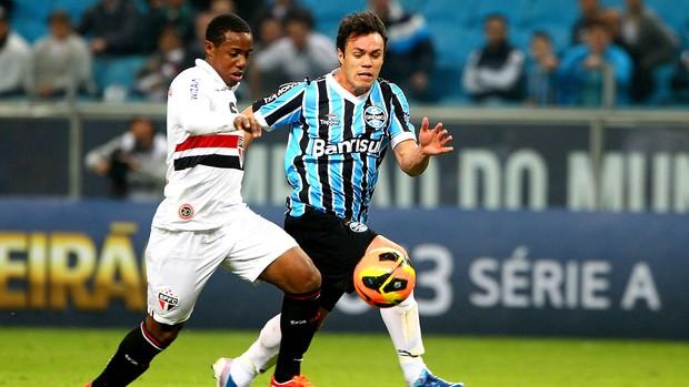 Kleber jogo Grêmio contra São Paulo (Foto: Lucas Uebel / Site Oficial do Grêmio)