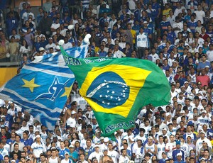 Torcida Cruzeiro (Foto: Washington Alves / Vipcomm)