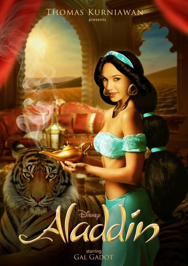 Gal Gadot como Jasmine de 'Aladdin' (Foto: Thomas Kurniawan)