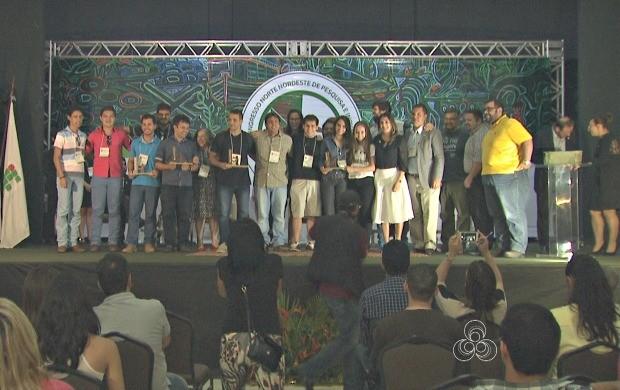 As melhores ideias foram premiadas no encerramento do 10º Connepi em Rio Branco (Foto: Acre TV)