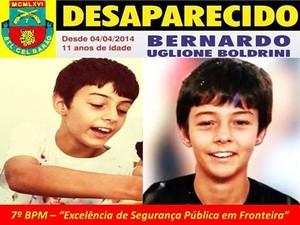 Menino de 11 anos está desaparecido no Rio Grande do Sul (Foto: Reprodução/RBS TV)
