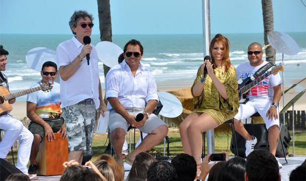 Serginho Groisman recebeu Aviões do Forró na primeira edição. (Foto: Luiz Gonzaga/TV Verdes Mares)