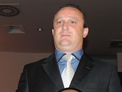 Marcelo Georg presidente Metropolitano pêmio melhores Catarinense 2014 (Foto: Marcelo Silva)