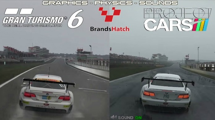 Comparação coloca os gráficos de Project Cars contra Gran Turismo 6 (Foto: CarGamingBlog)
