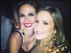 Claudia Leitte e Luciana Gimenez curtem festa em São Paulo