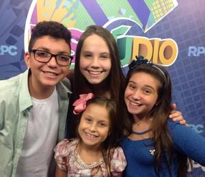 Wagner Barreto Rafa Gomes Pérola Crepaldi Carol Passos The Voice Kids (Foto: Divulgação/ RPC)