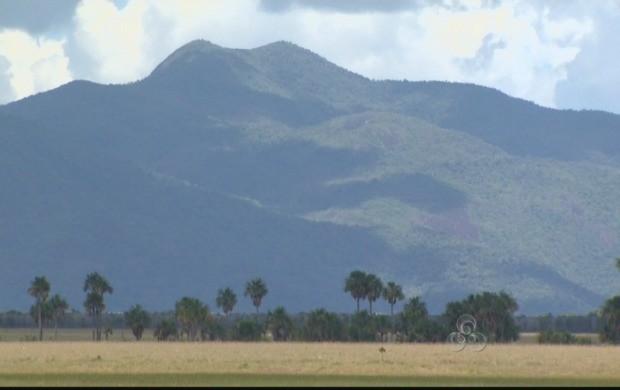 A Serra Grande pode chegar a 850 metros, na parte mais alta (Foto: Roraima TV)