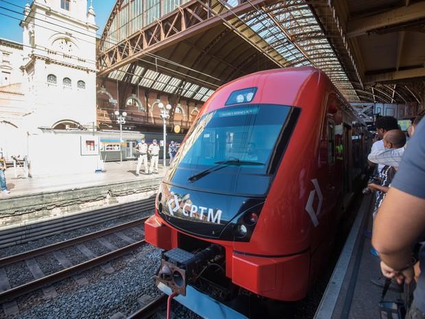 Trem que passa a funcionar na Linha 11-Coral (Foto: Alexandre Moreira/Divulgação)