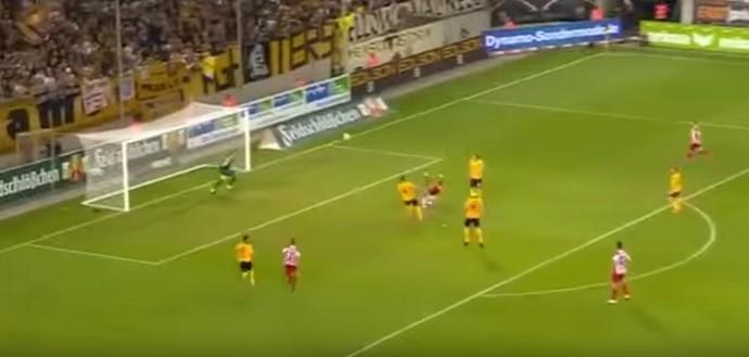 Carsten Kammlott gol escorpião Dynamo Dresden