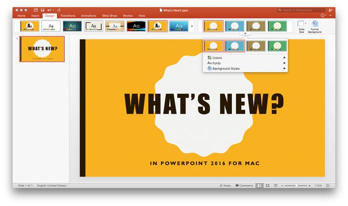 PowerPoint para Mac ganha novidades (Foto: Divulgação/Microsoft)