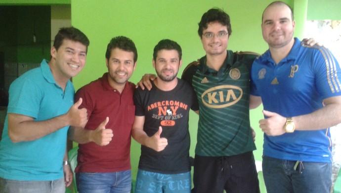 Amigos do Lucca Palmas (Foto: Vilma Nascimento/ GloboEsporte.com)